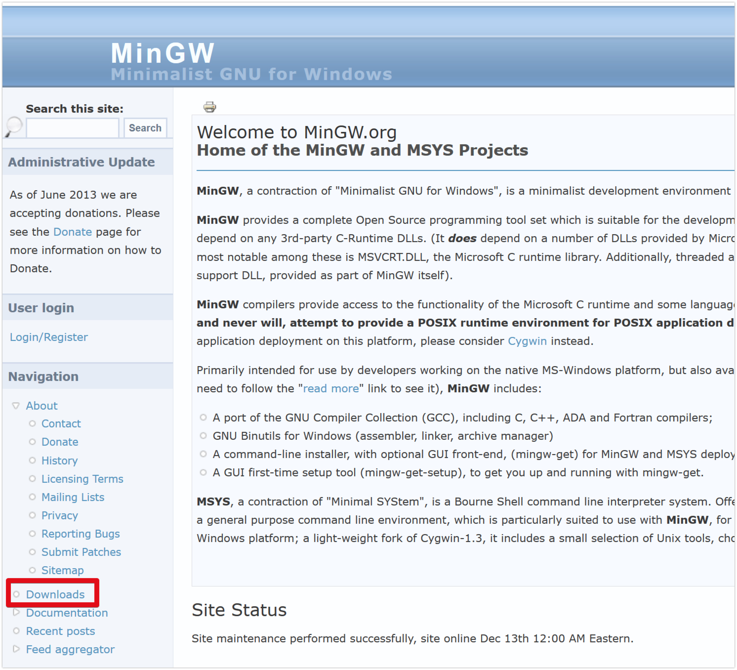Mingw Compiler Download